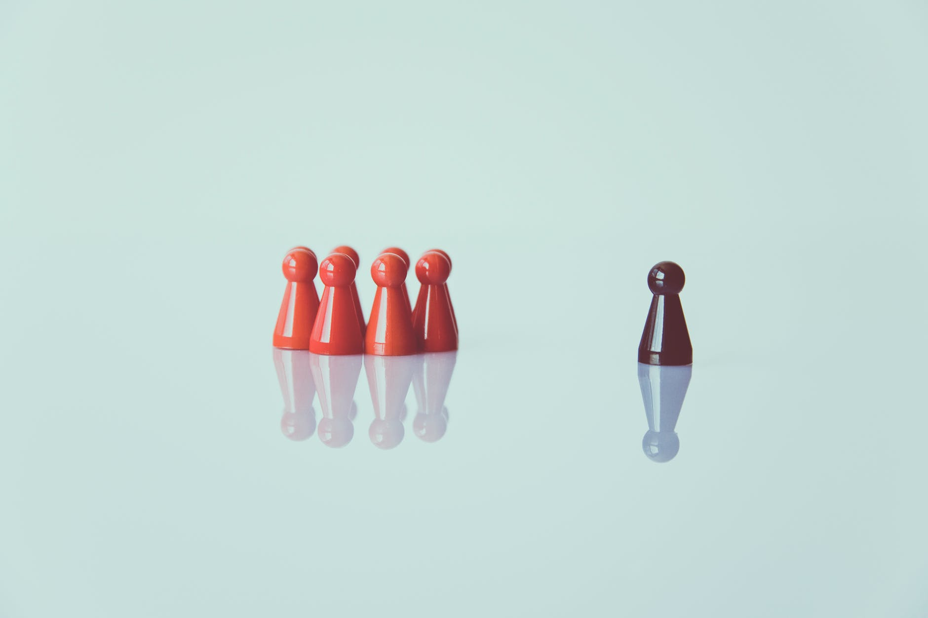 orange and and brown chess pieces