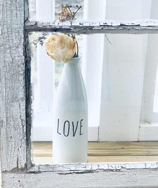 vase with word Love